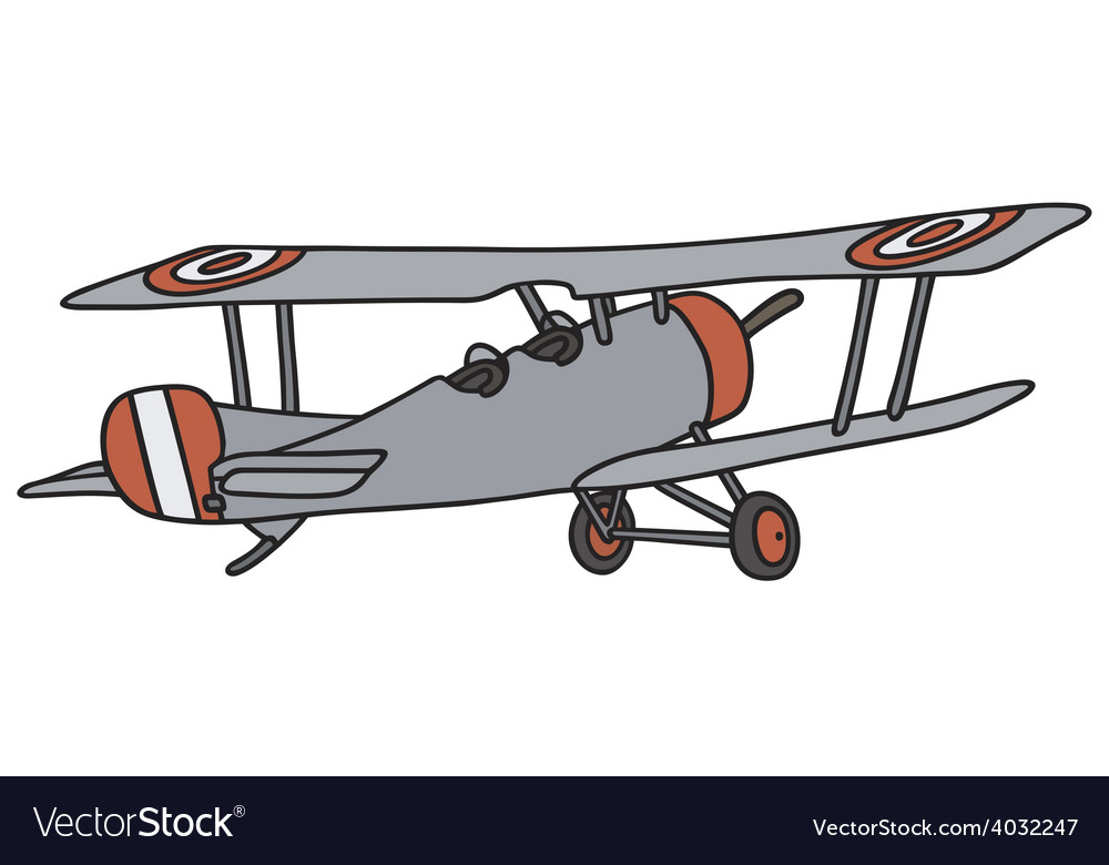 Vintage biplane vector | Price: 1 Credit (USD $1)