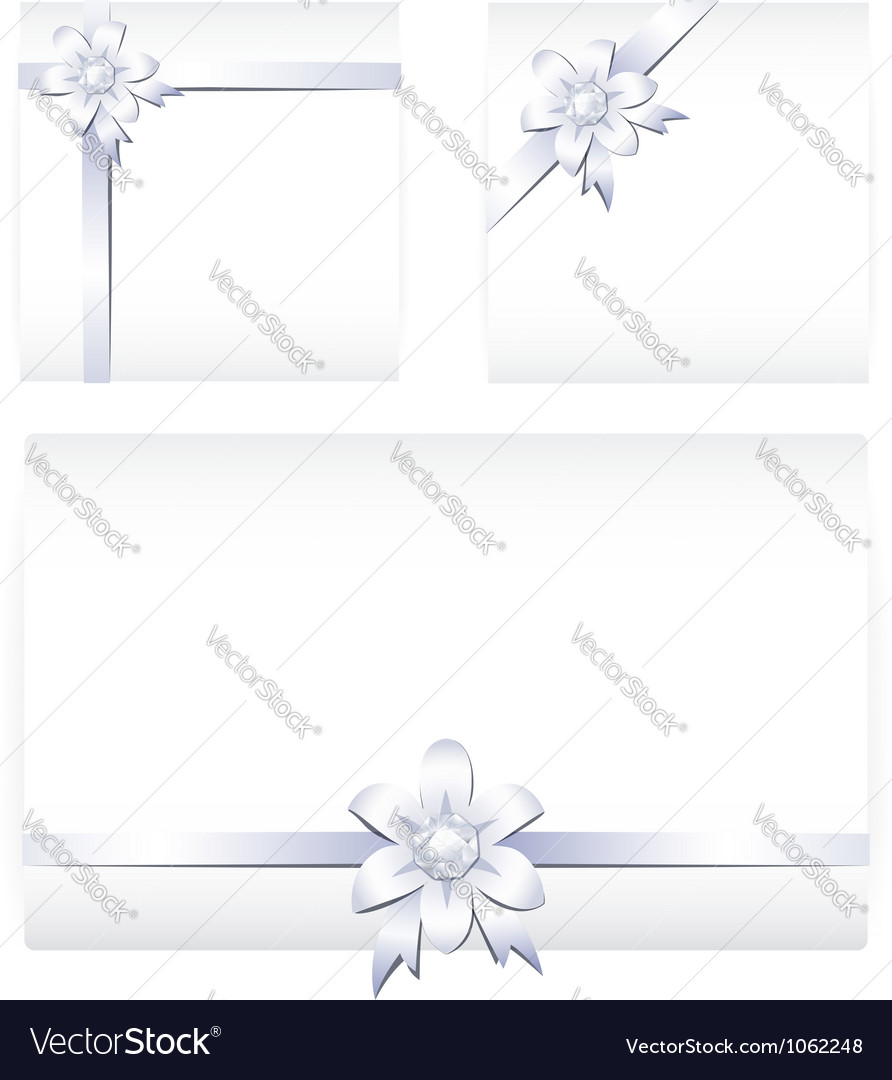 Card notes with ribbons vector | Price: 1 Credit (USD $1)