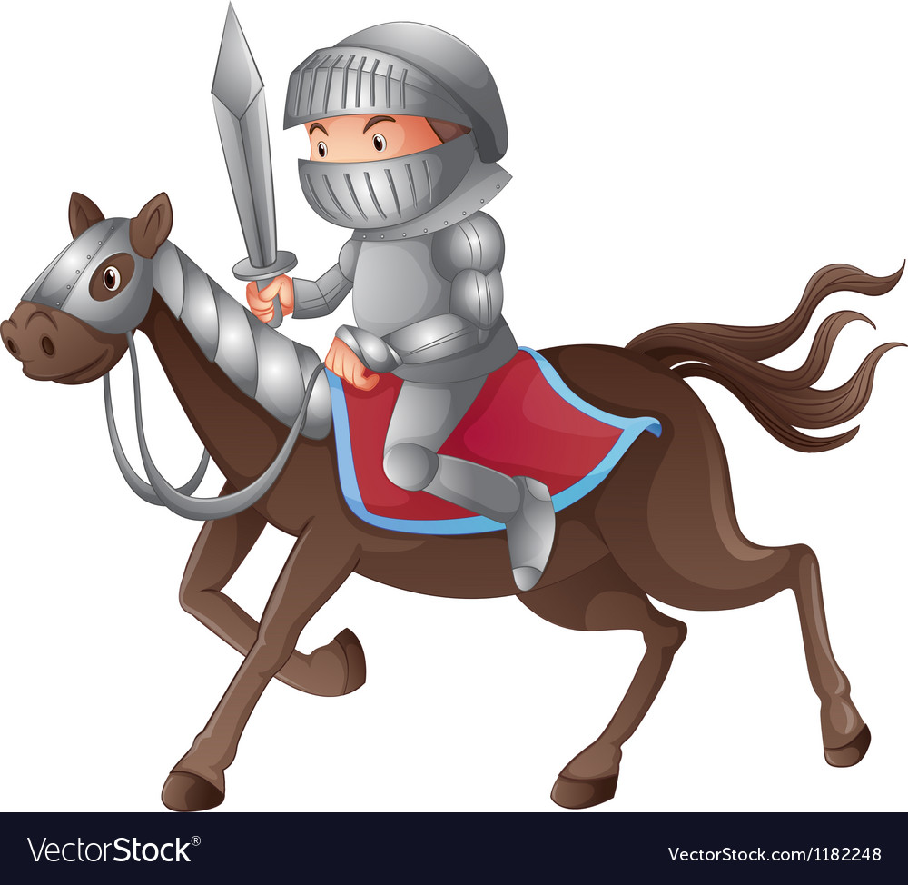 Cartoon knight vector | Price: 1 Credit (USD $1)