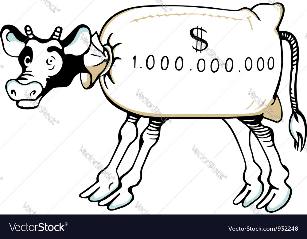 Cash cow vector | Price: 1 Credit (USD $1)