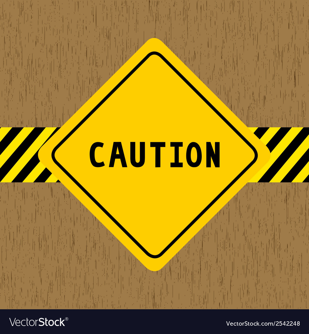 Caution sign vector | Price: 1 Credit (USD $1)