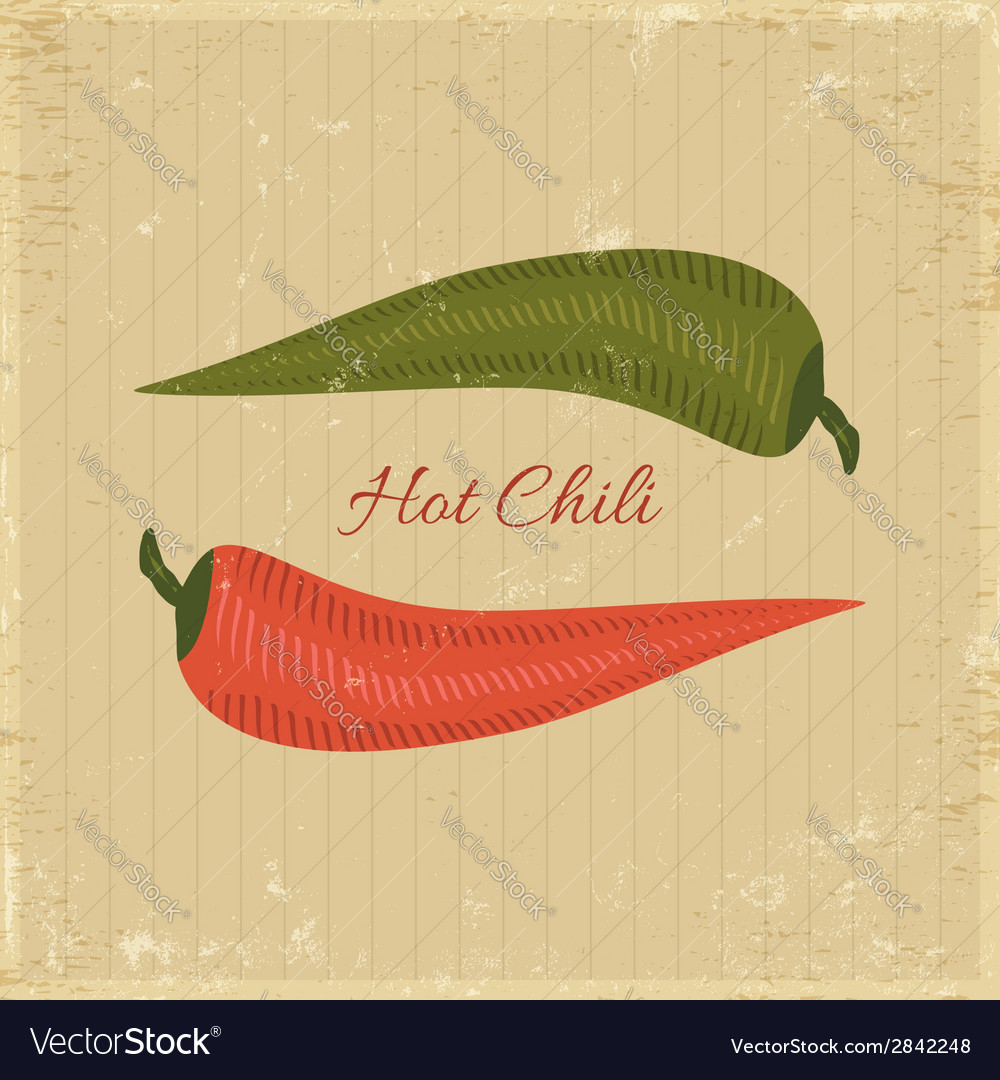 Chili poster vector | Price: 1 Credit (USD $1)
