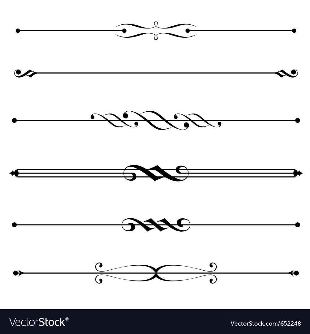 Decorative elements border and page rules vector | Price: 1 Credit (USD $1)