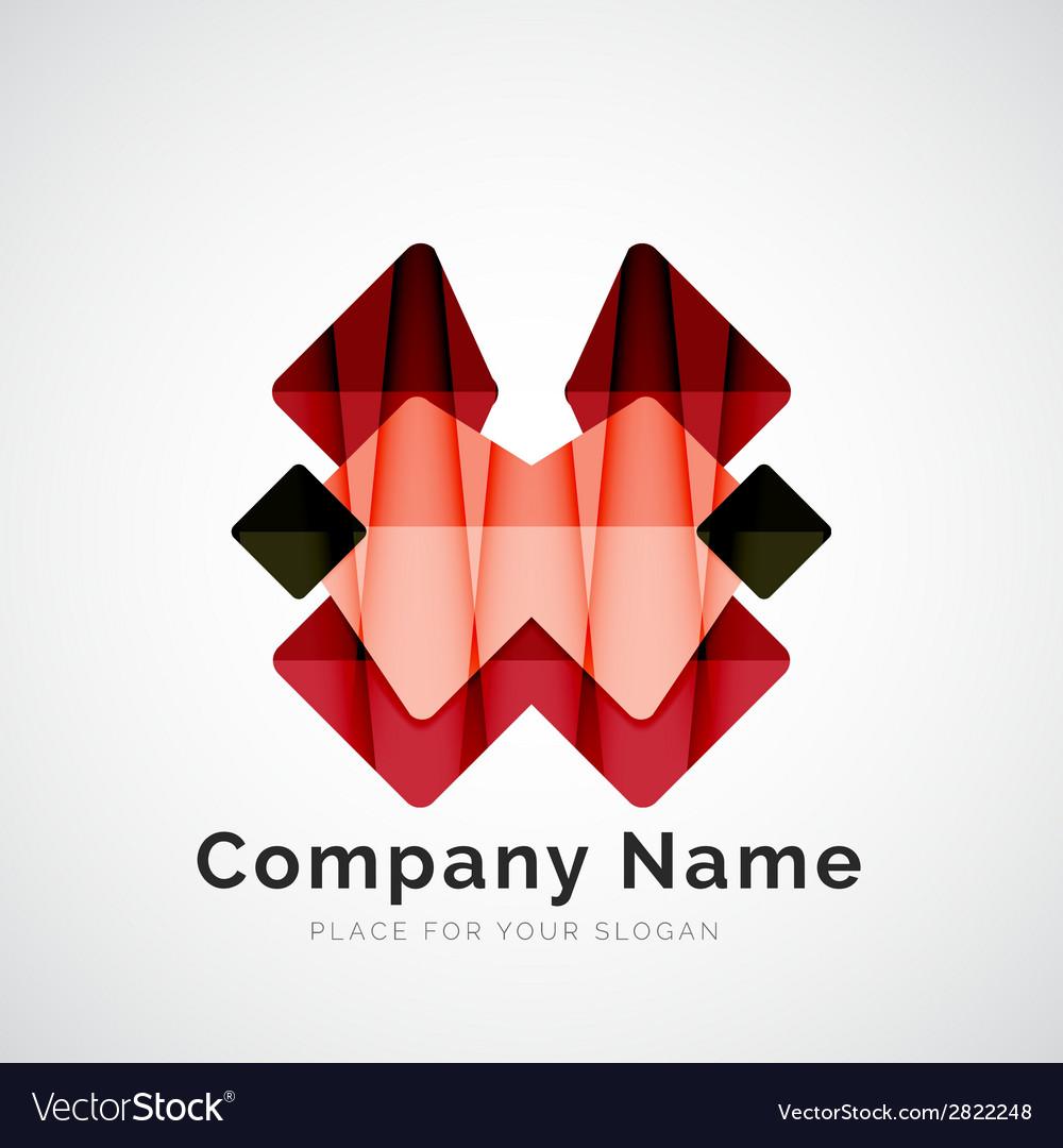 Geometric shape company logo vector | Price: 1 Credit (USD $1)