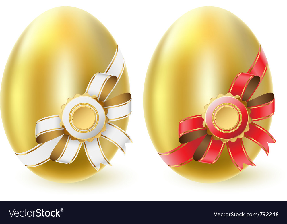 Golden chicken eggs vector | Price: 1 Credit (USD $1)