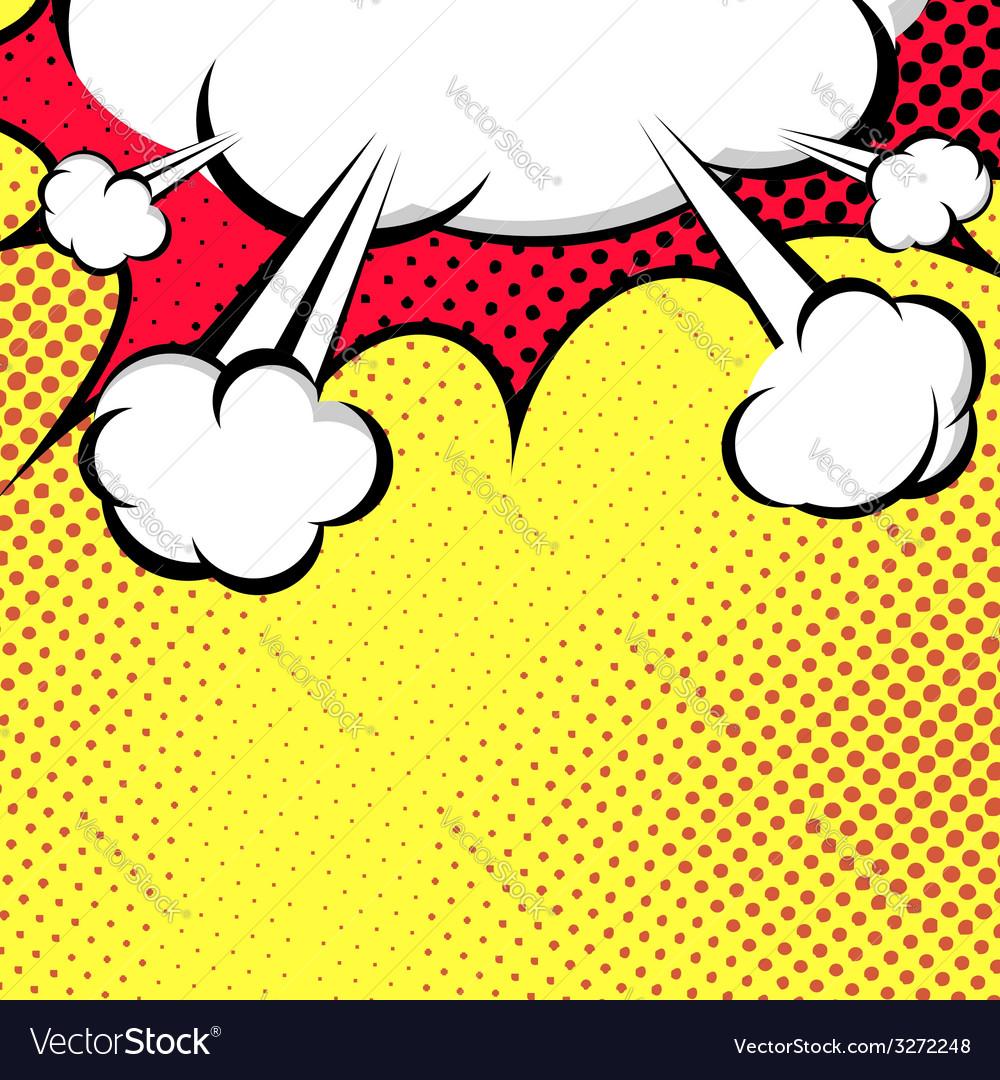 Hanging speech bubble cloud pop-art style vector | Price: 1 Credit (USD $1)