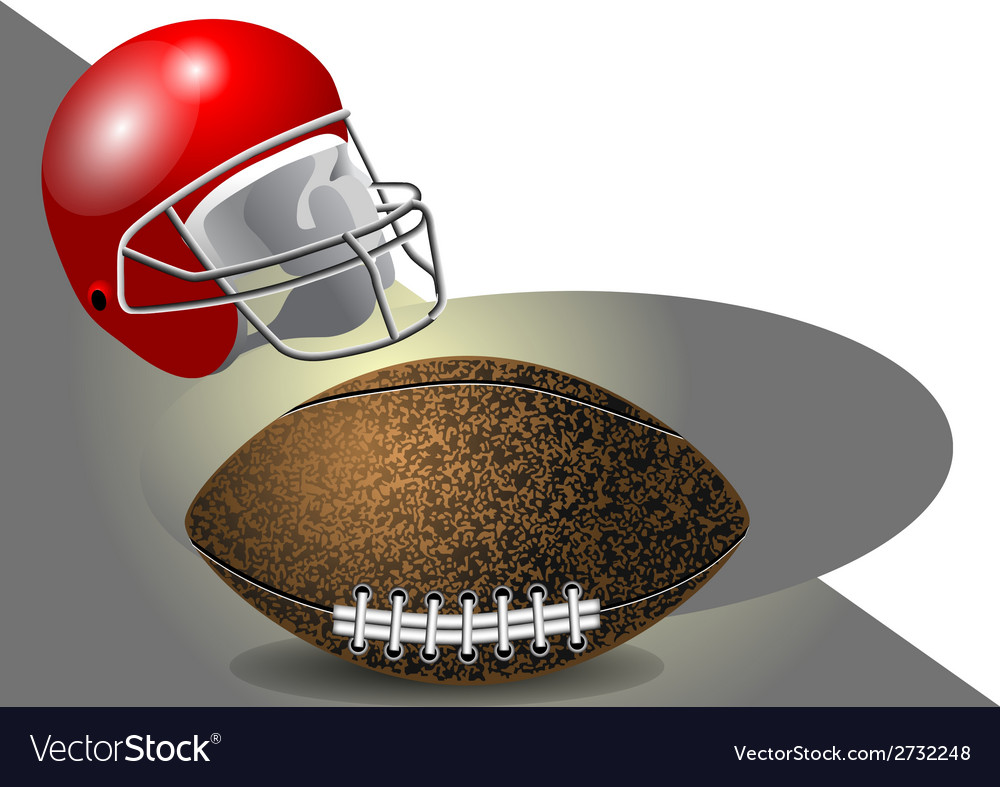 Helmet and ball vector | Price: 1 Credit (USD $1)