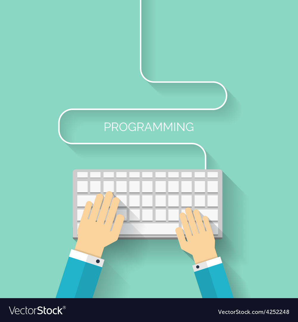 Programming flat cloud computing and social media vector | Price: 1 Credit (USD $1)