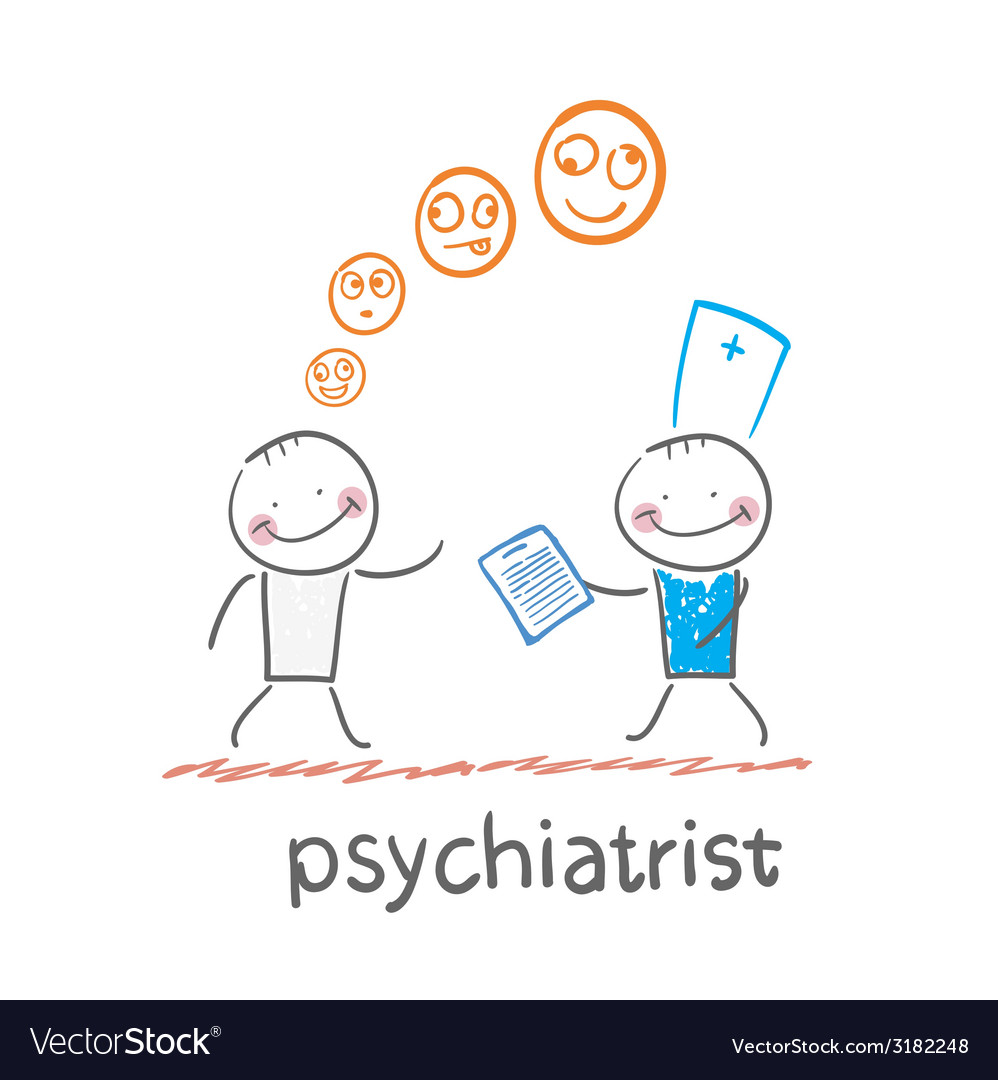 Psychiatrist says a patients illness vector   Price: 1 Credit (USD $1)