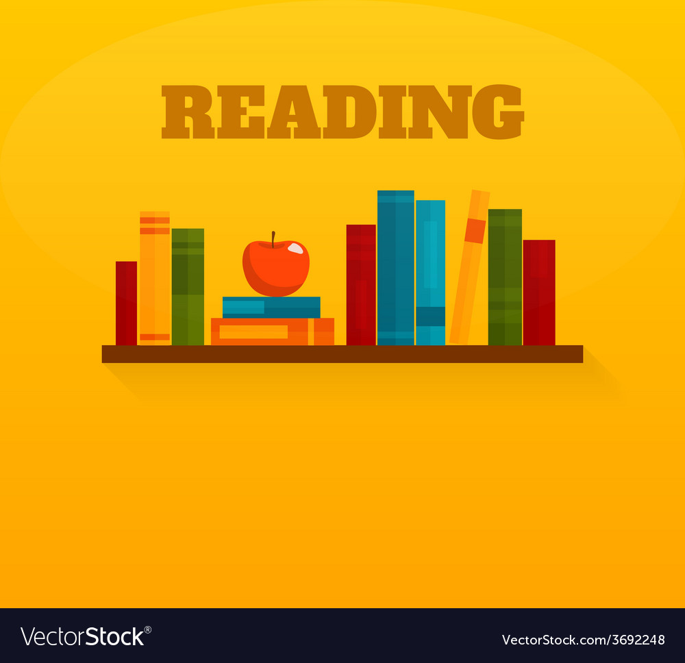 Reading books flat icon vector | Price: 1 Credit (USD $1)