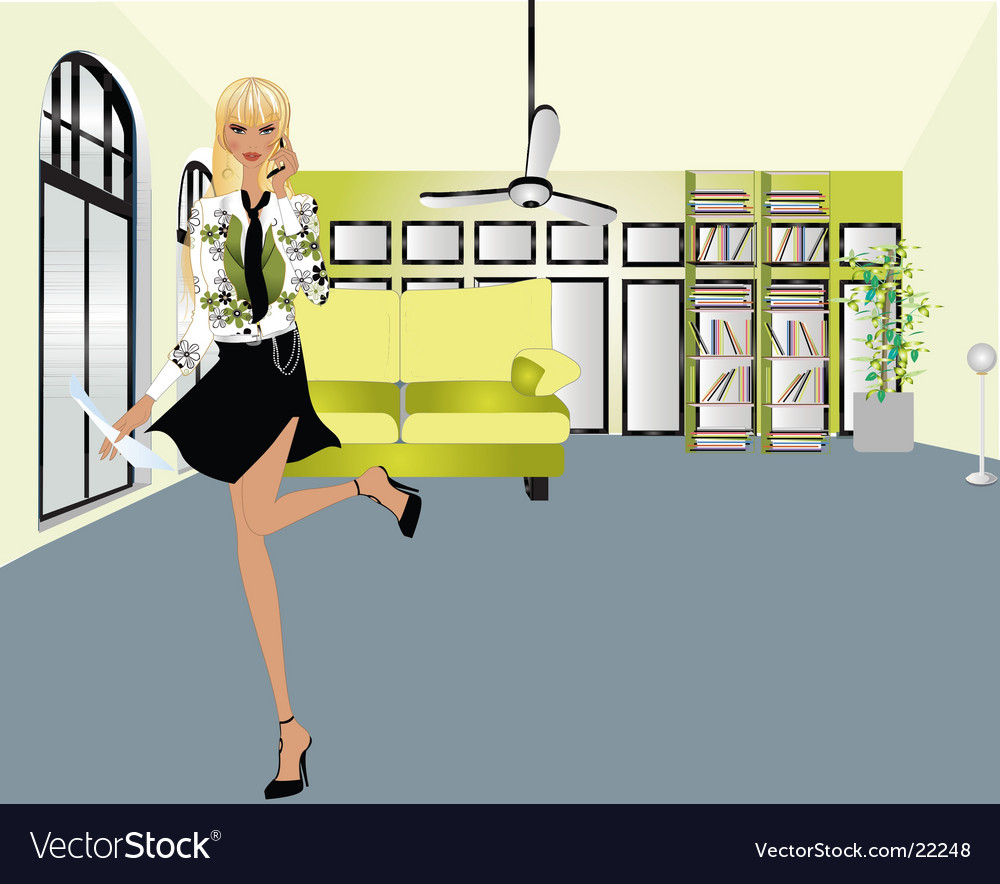 Secretary vector | Price: 3 Credit (USD $3)