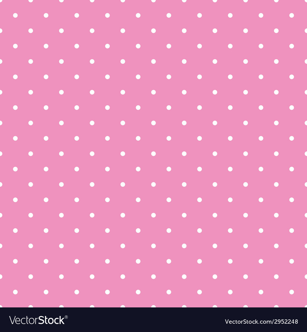 Tile white polka dots pink on background pattern vector | Price: 1 Credit (USD $1)