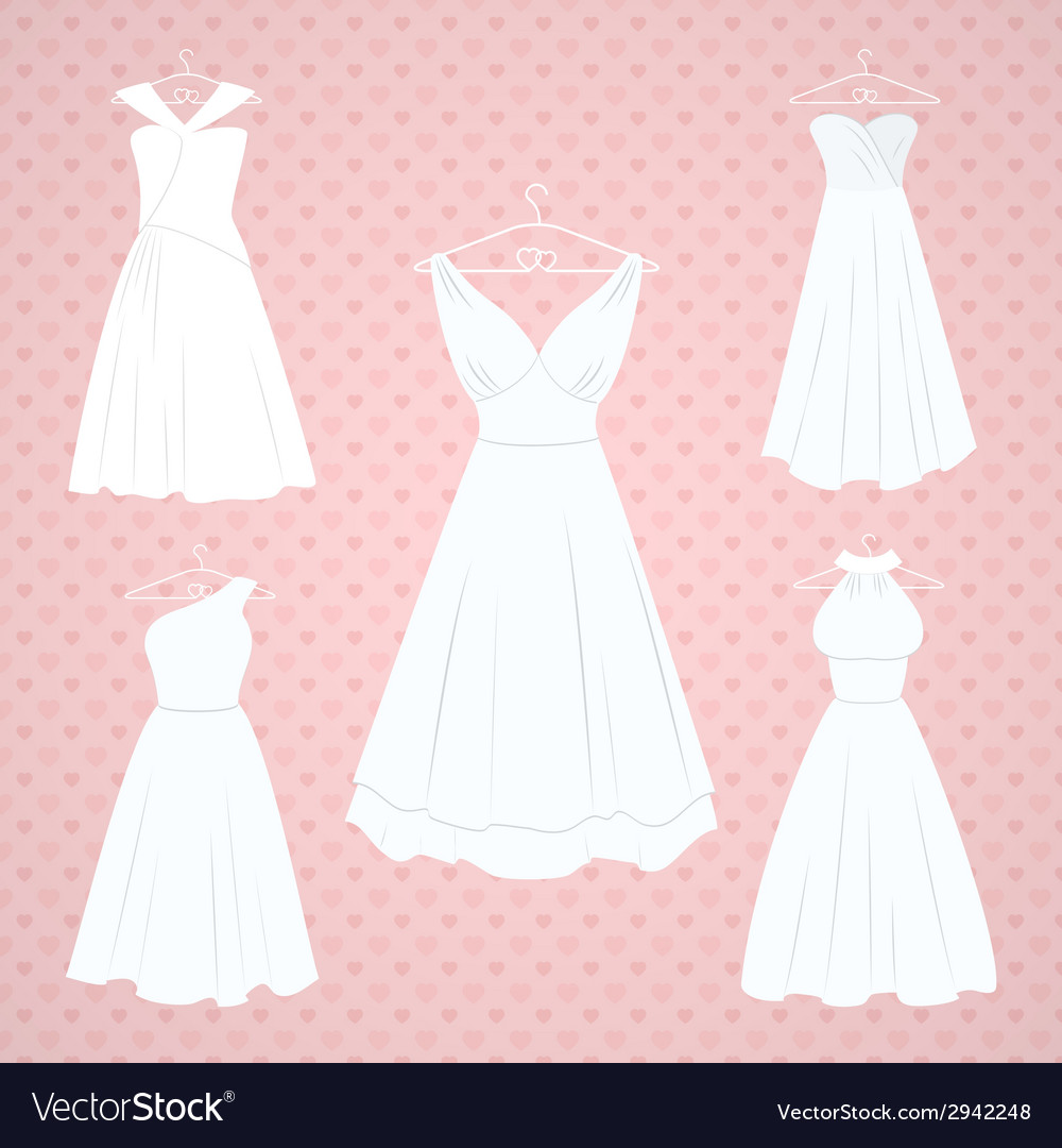 Wedding dresses vector | Price: 1 Credit (USD $1)