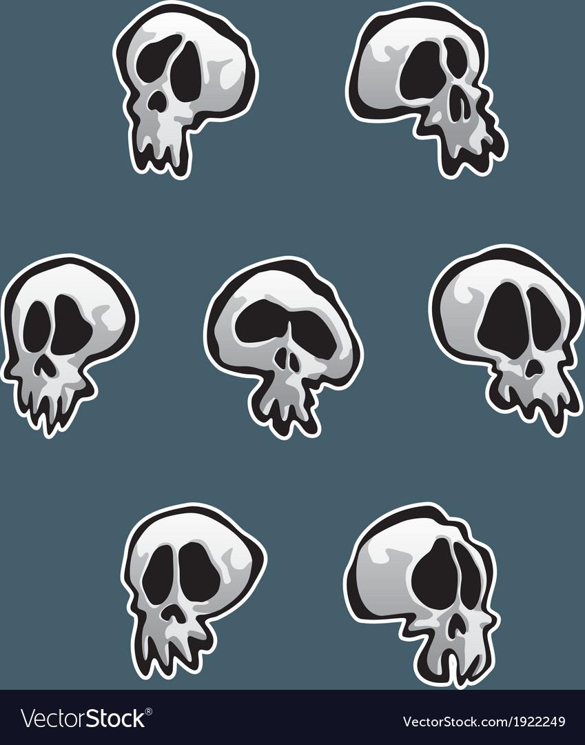 7 skulls vector | Price: 1 Credit (USD $1)