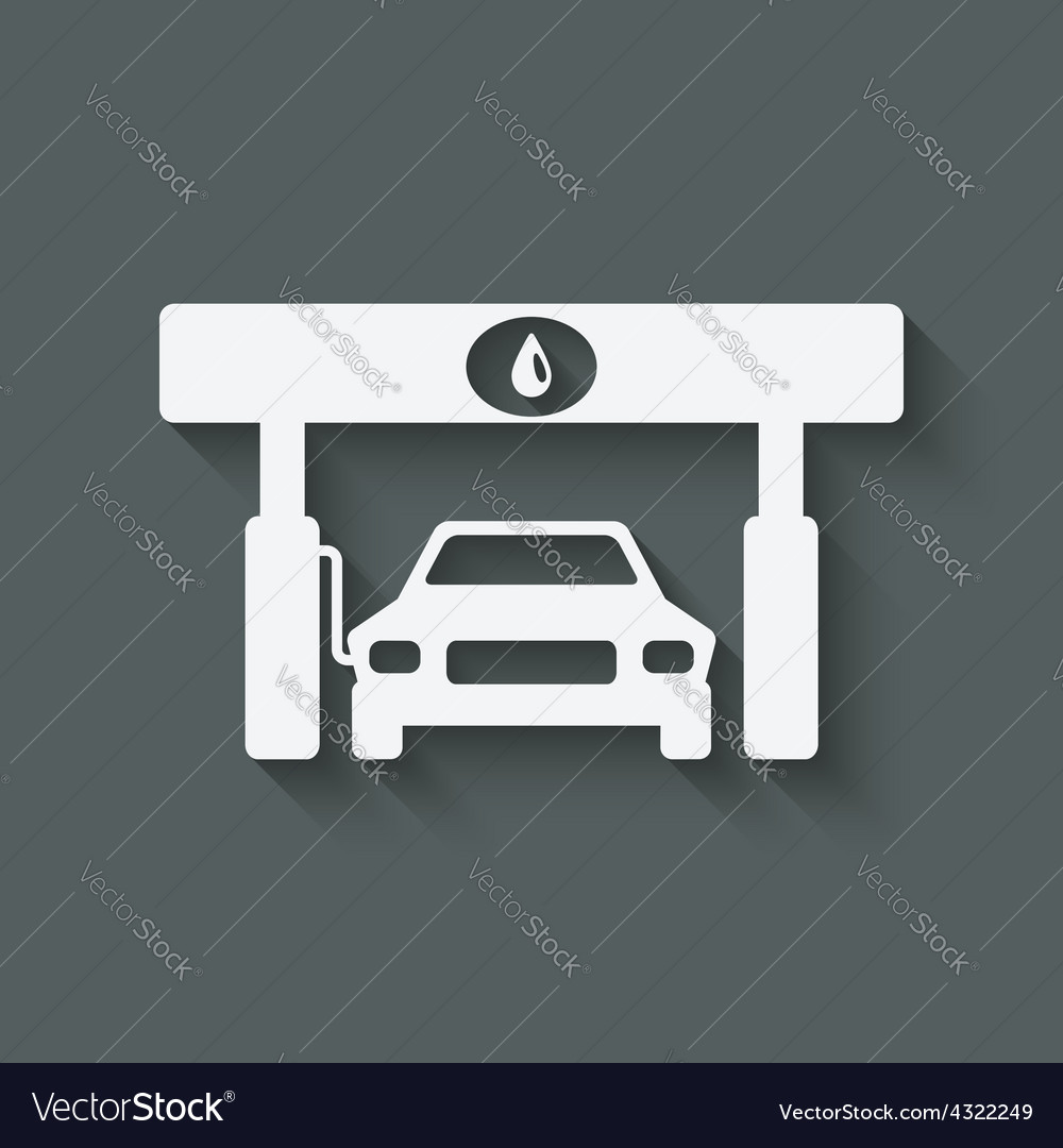 Car at gas station vector | Price: 1 Credit (USD $1)