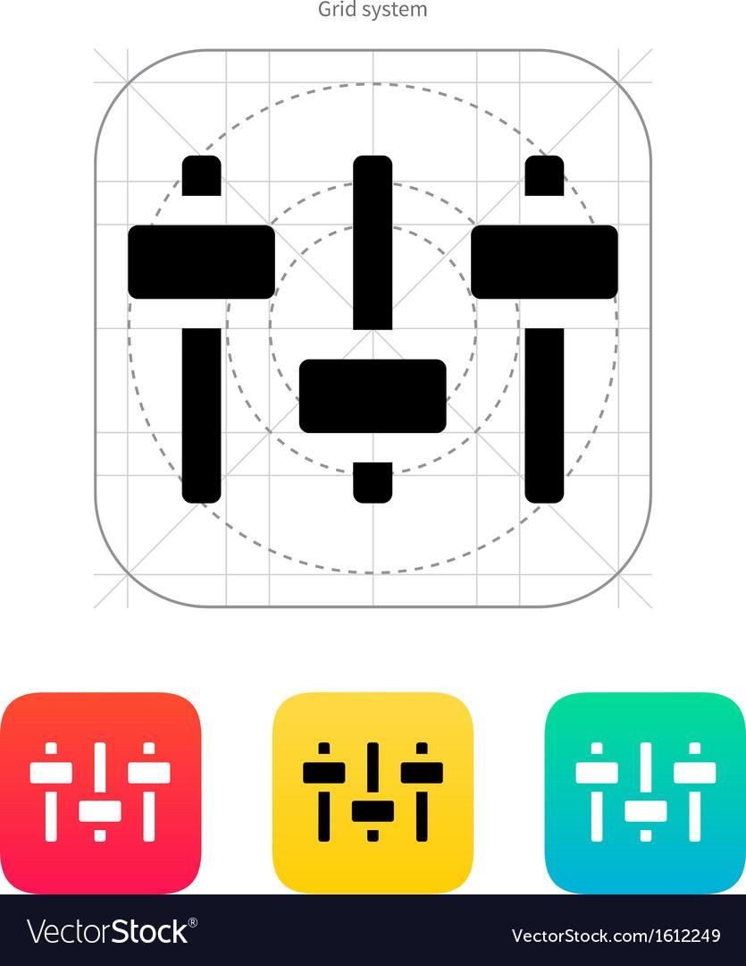 Equalizer icon volume control vector   Price: 1 Credit (USD $1)