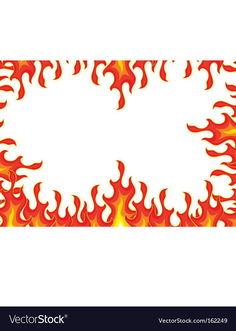 Fire border vector | Price: 1 Credit (USD $1)