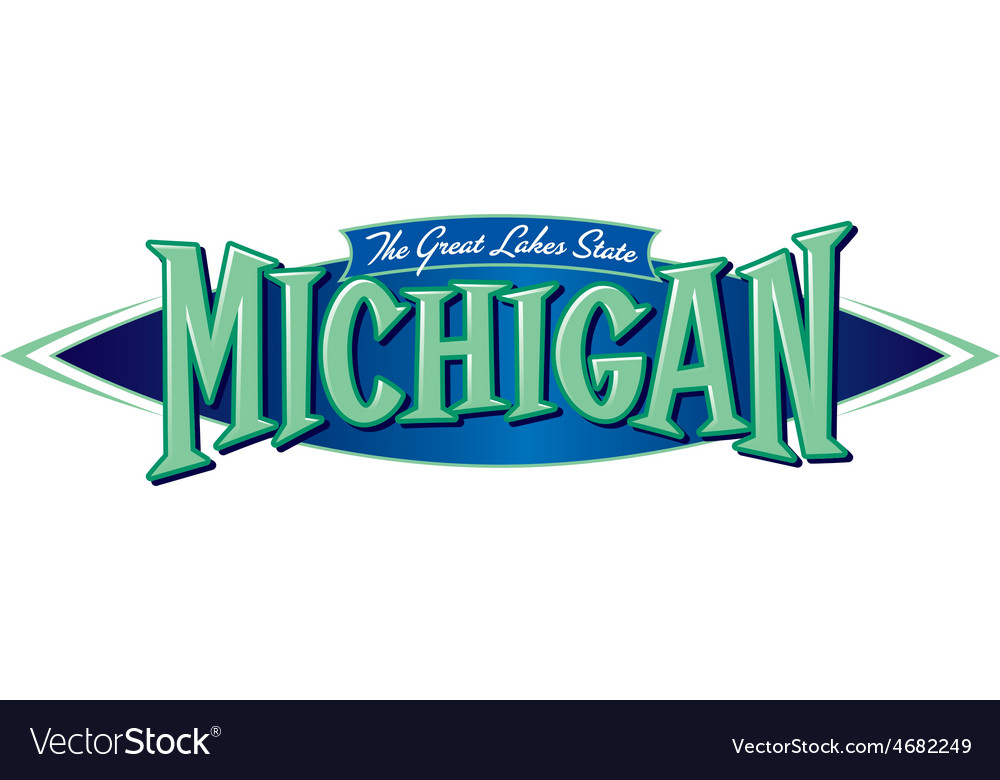 Michigan the great lakes state vector | Price: 1 Credit (USD $1)