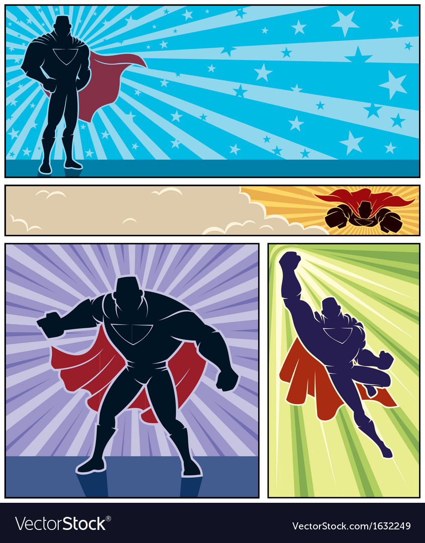 Superhero banners vector | Price: 1 Credit (USD $1)