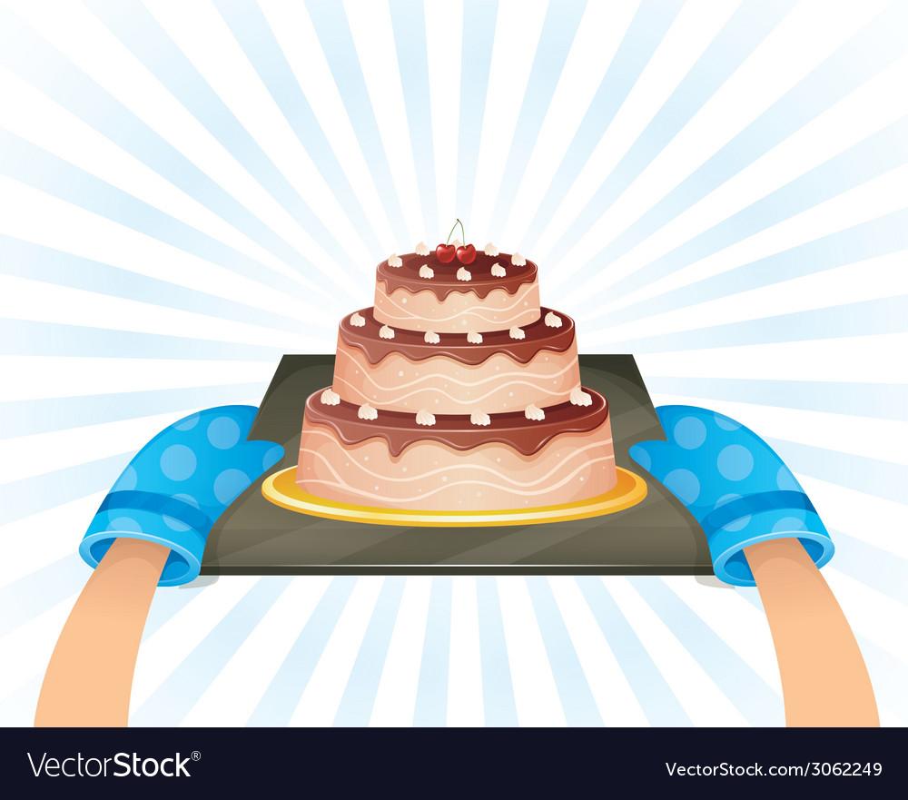 Sweet chocolate cake vector | Price: 1 Credit (USD $1)