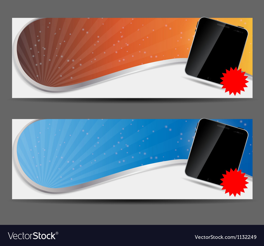Template for smart phone and mobile phone banner vector | Price: 1 Credit (USD $1)