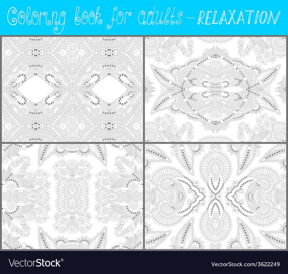 Unique coloring book page for adults - flower vector | Price: 1 Credit (USD $1)