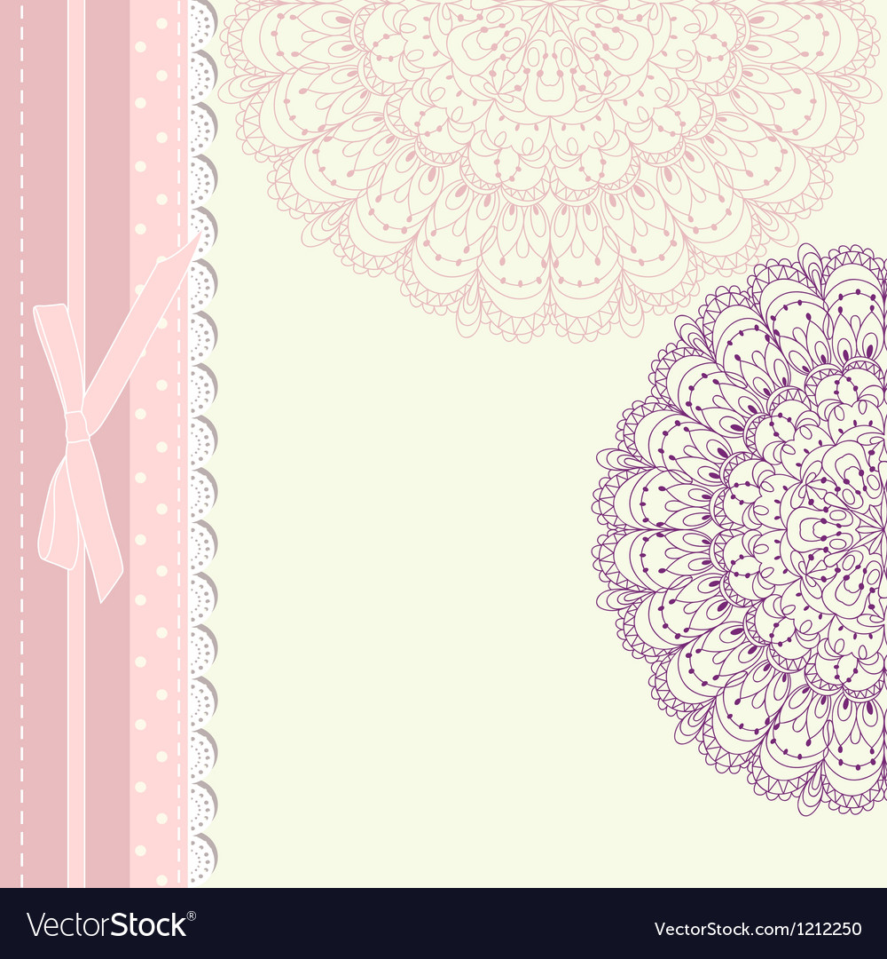 Baby frame vintage with lace vector | Price: 1 Credit (USD $1)