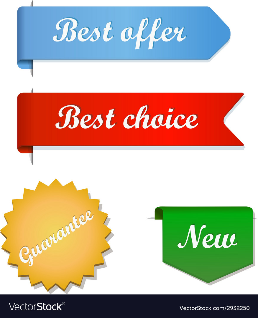 Best offer choice ribbons vector | Price: 1 Credit (USD $1)