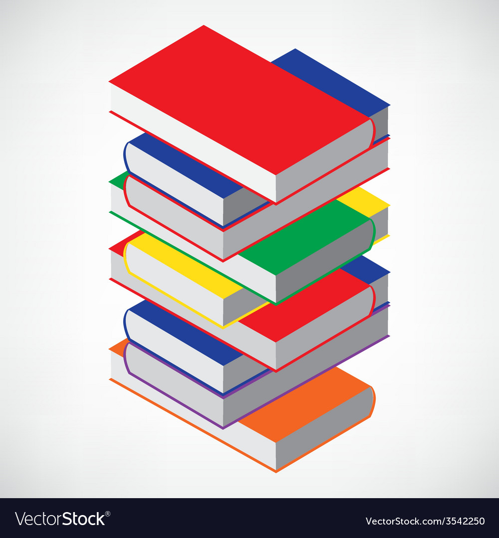 Book stack tower vector | Price: 1 Credit (USD $1)