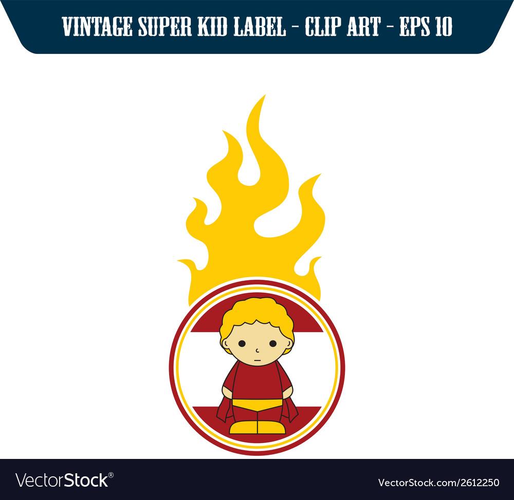 Child superhero vector | Price: 1 Credit (USD $1)
