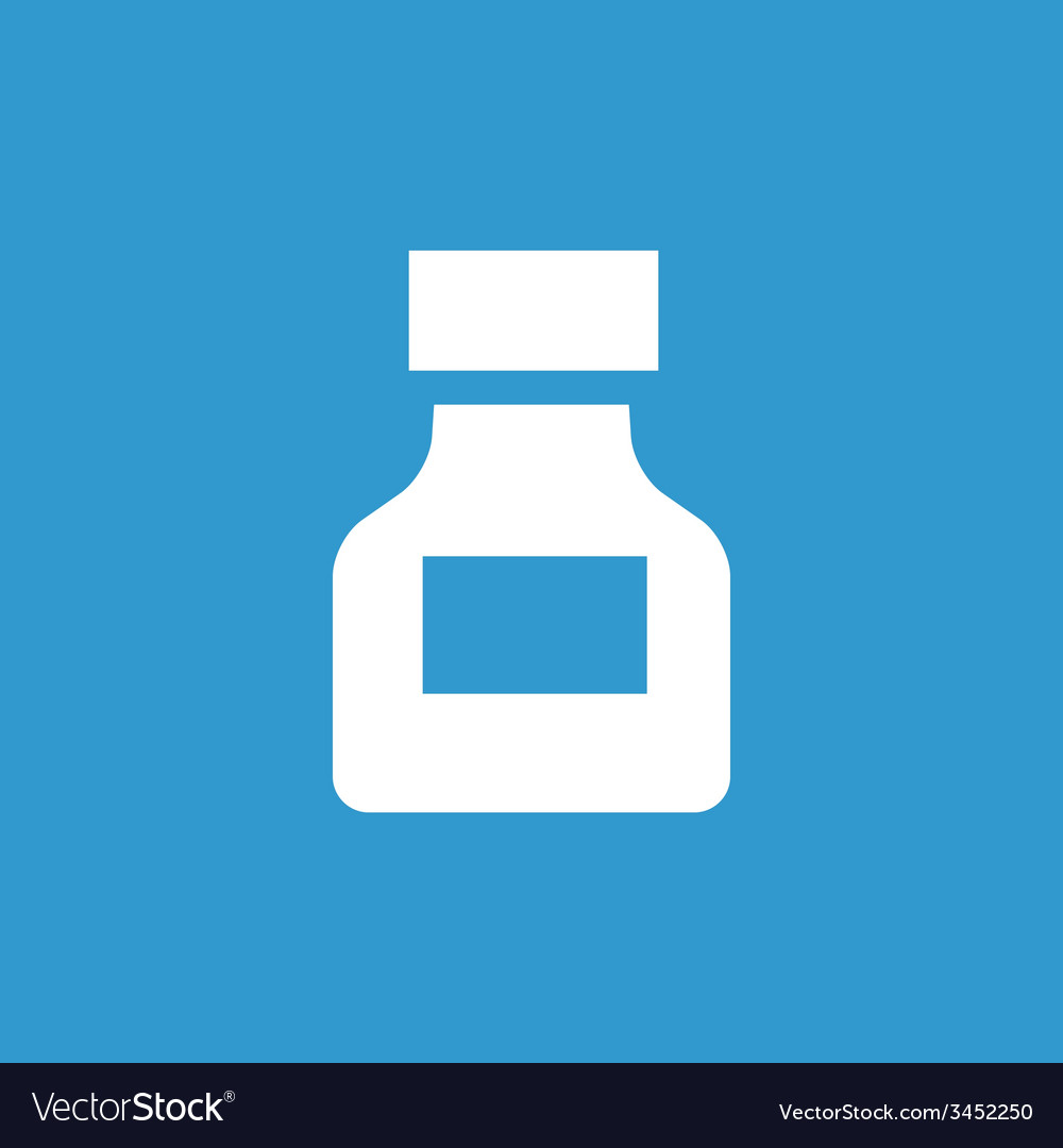 Drugs icon white on the blue background vector | Price: 1 Credit (USD $1)