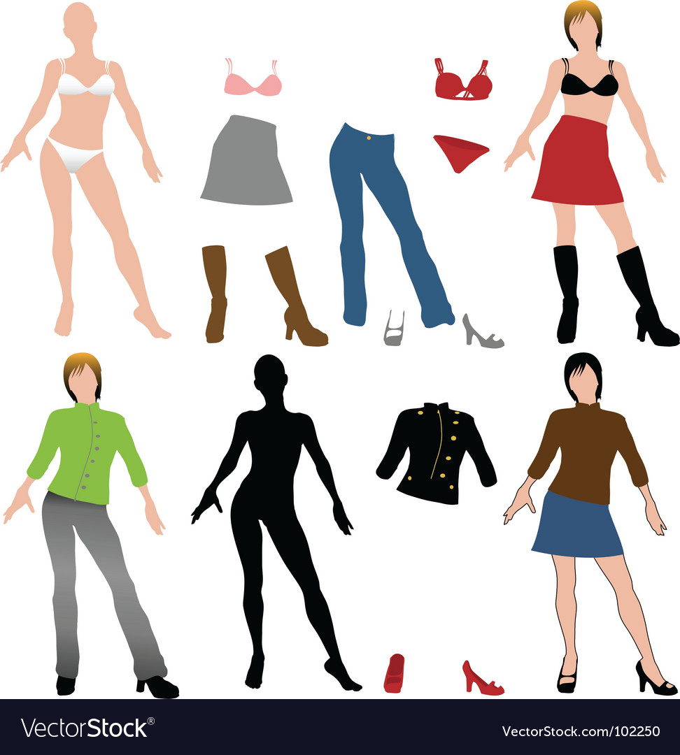 Fashion dolls vector | Price: 1 Credit (USD $1)
