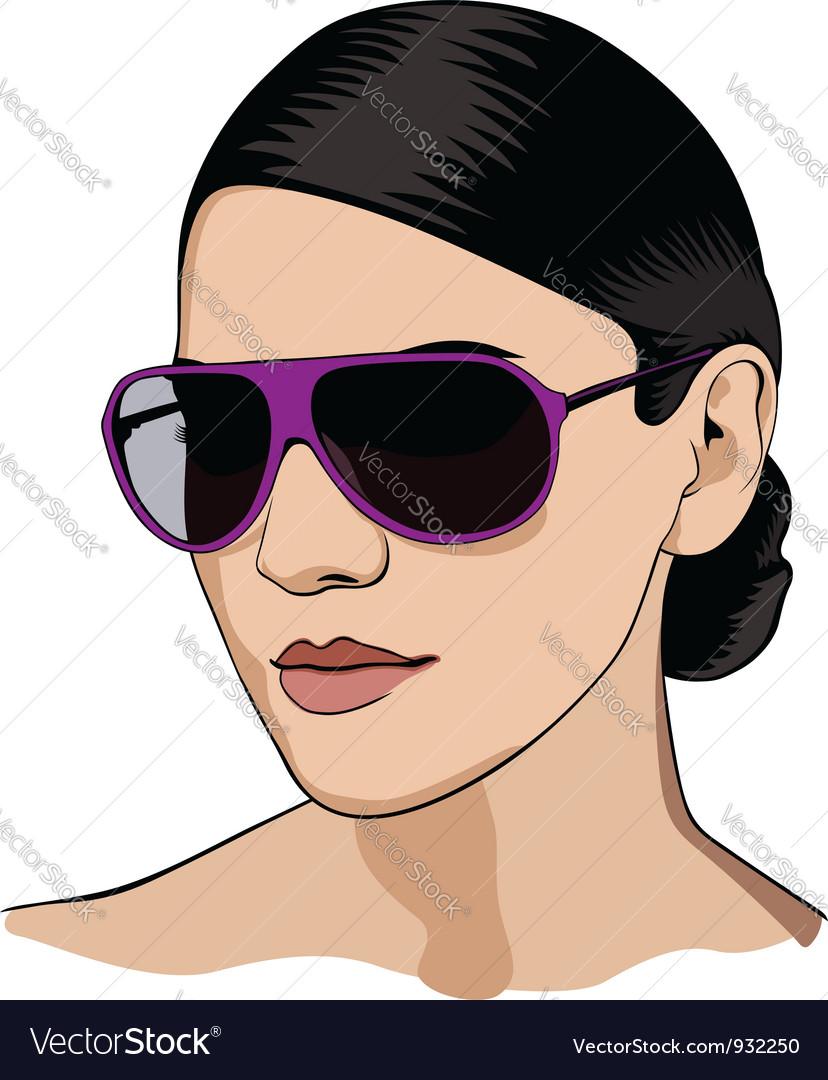 Girl in glasses vector | Price: 3 Credit (USD $3)
