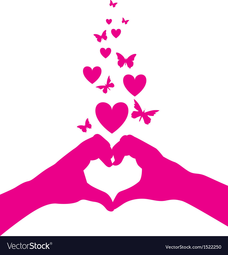 Hands heart vector | Price: 1 Credit (USD $1)
