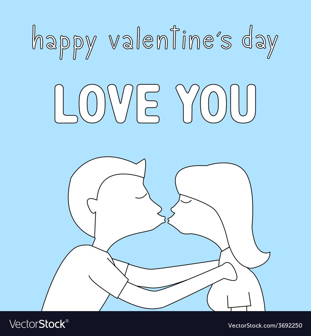 Happy valentine s day card13 vector | Price: 1 Credit (USD $1)