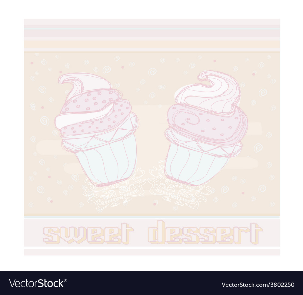 Lovely cupcake design vector | Price: 1 Credit (USD $1)