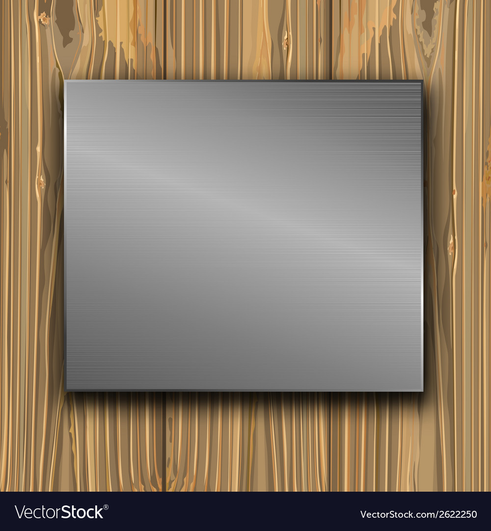 Metal on a planks vector | Price: 1 Credit (USD $1)