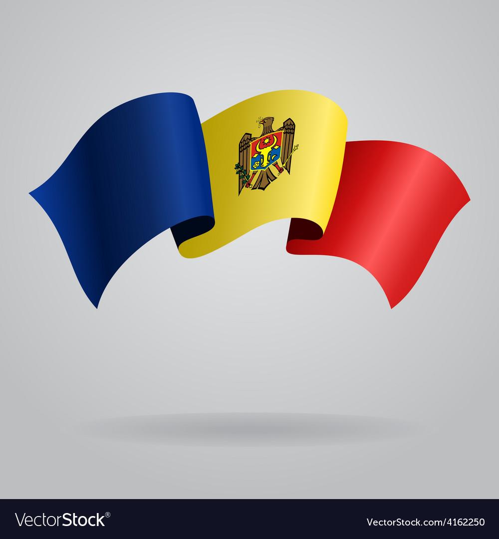 Moldovan waving flag vector   Price: 3 Credit (USD $3)