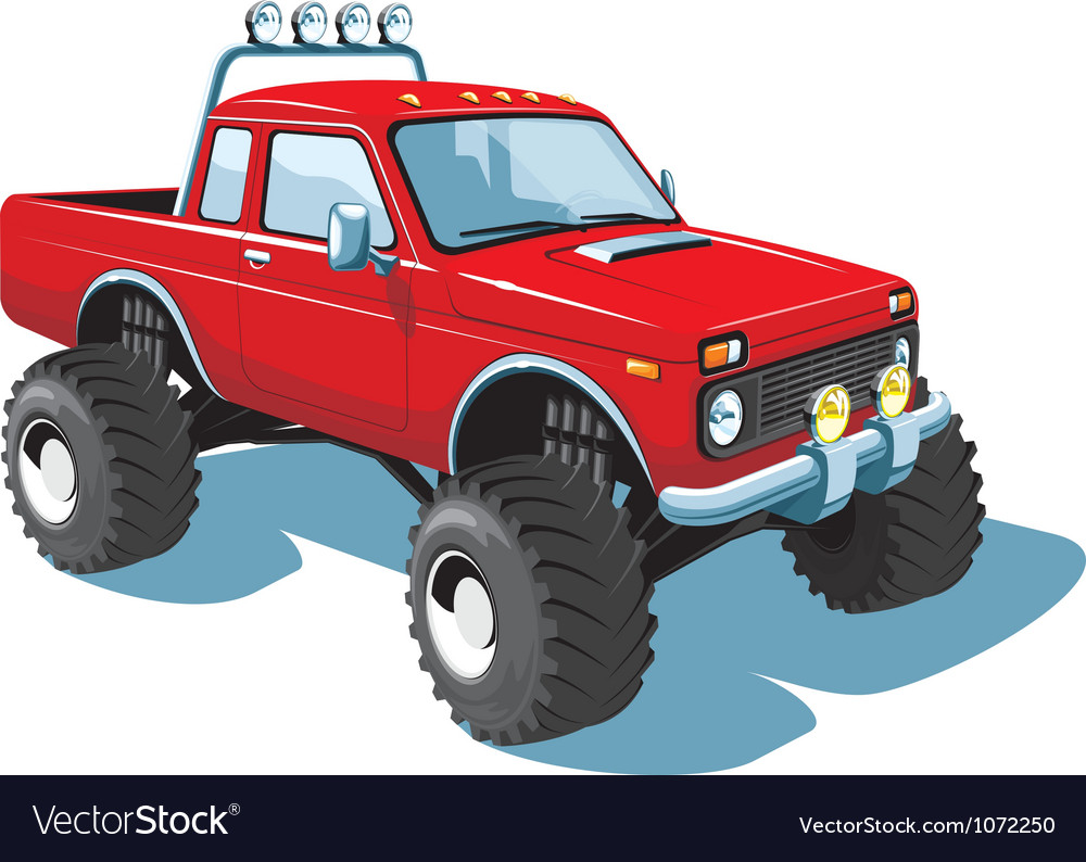 Monster truck vector | Price: 3 Credit (USD $3)