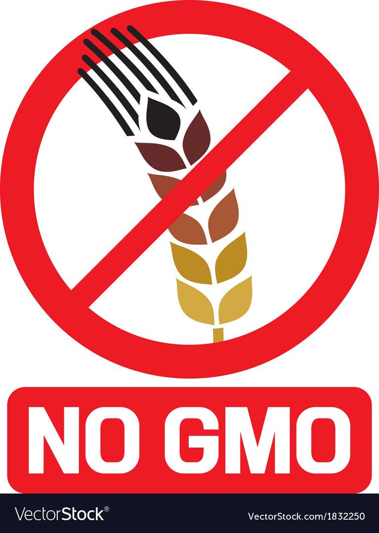 No gmo label vector | Price: 1 Credit (USD $1)