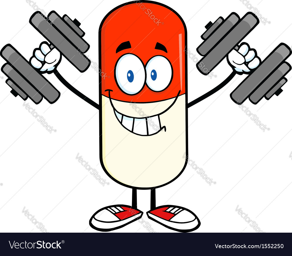 Pill cartoon vector | Price: 1 Credit (USD $1)