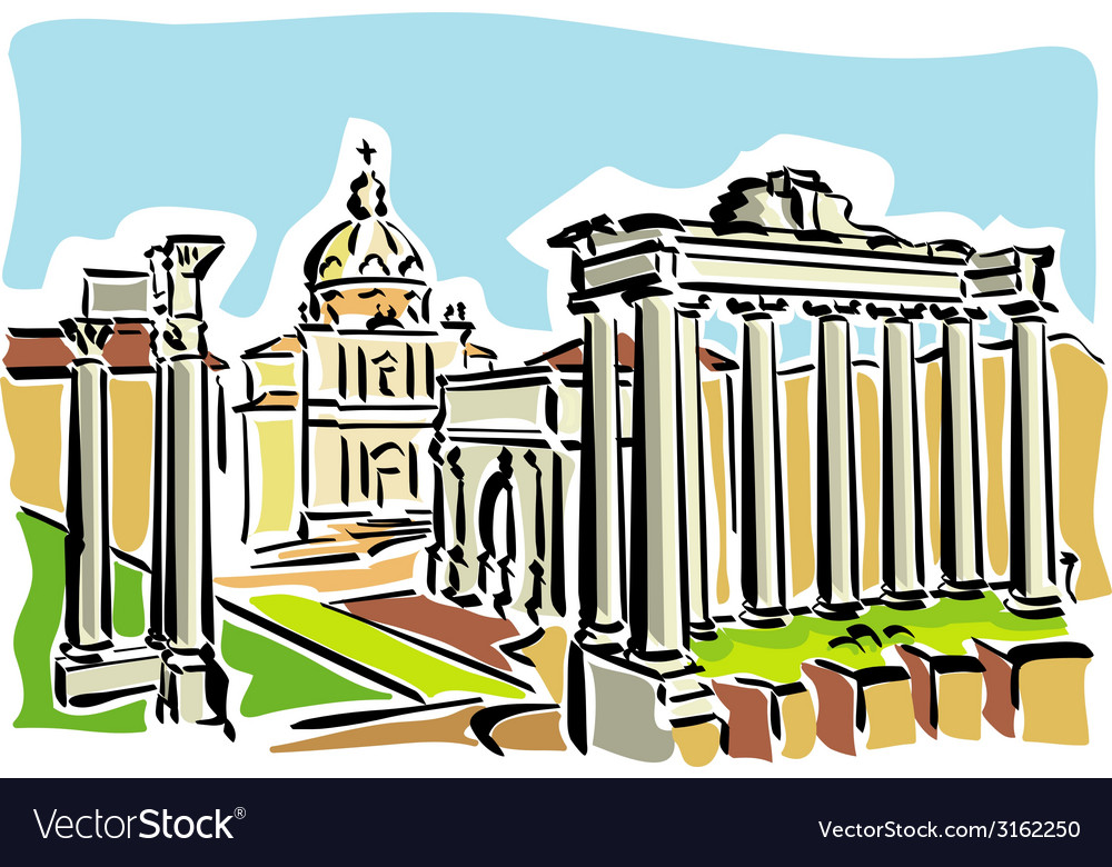 Rome ancient roman forum vector | Price: 1 Credit (USD $1)