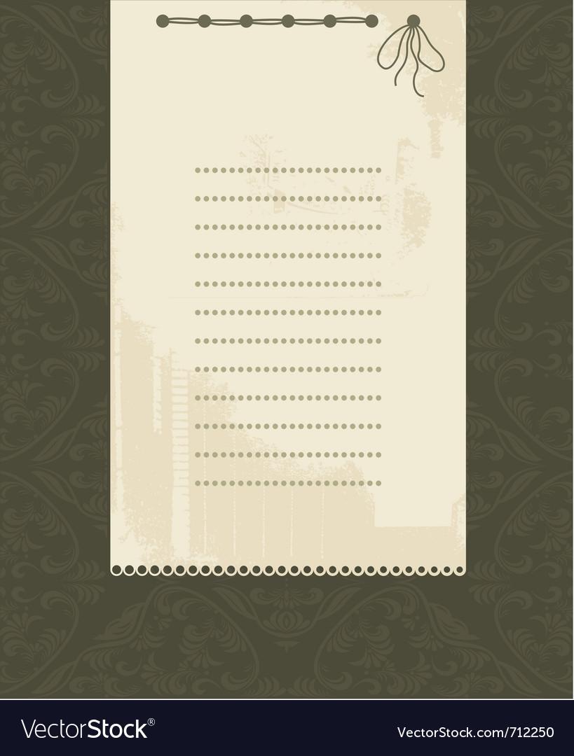 Vintage document frame vector | Price: 1 Credit (USD $1)