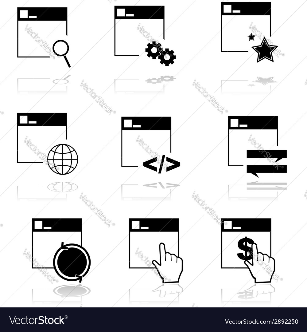 Web icons vector | Price: 1 Credit (USD $1)