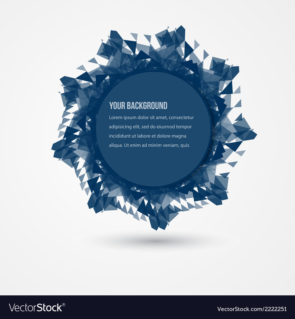 Abstract circles template flower design vector   Price: 1 Credit (USD $1)
