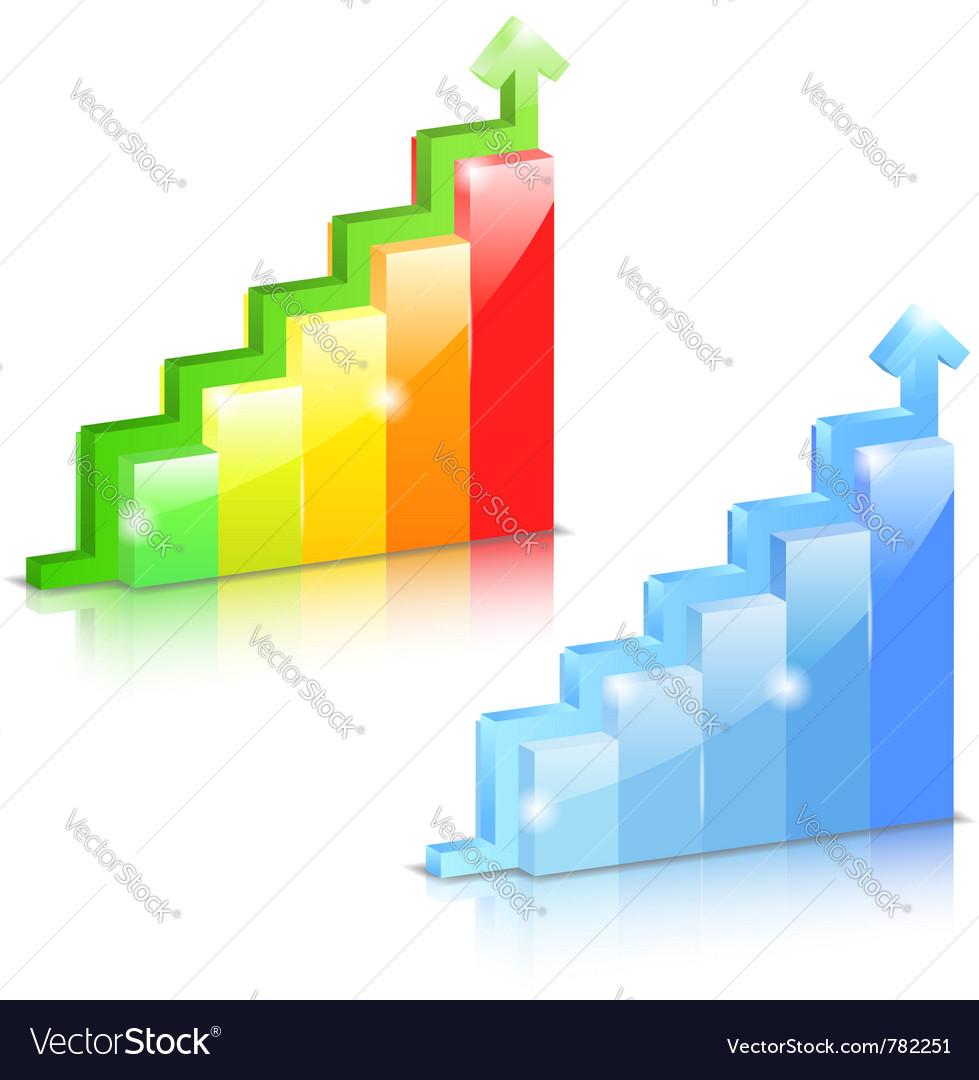 Bar graphs vector | Price: 3 Credit (USD $3)