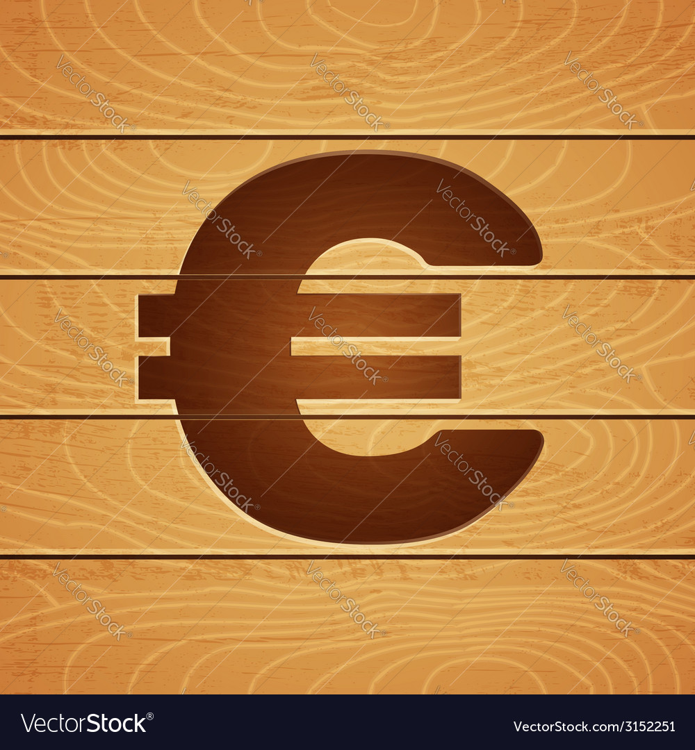 Euro on wooden background vector | Price: 1 Credit (USD $1)