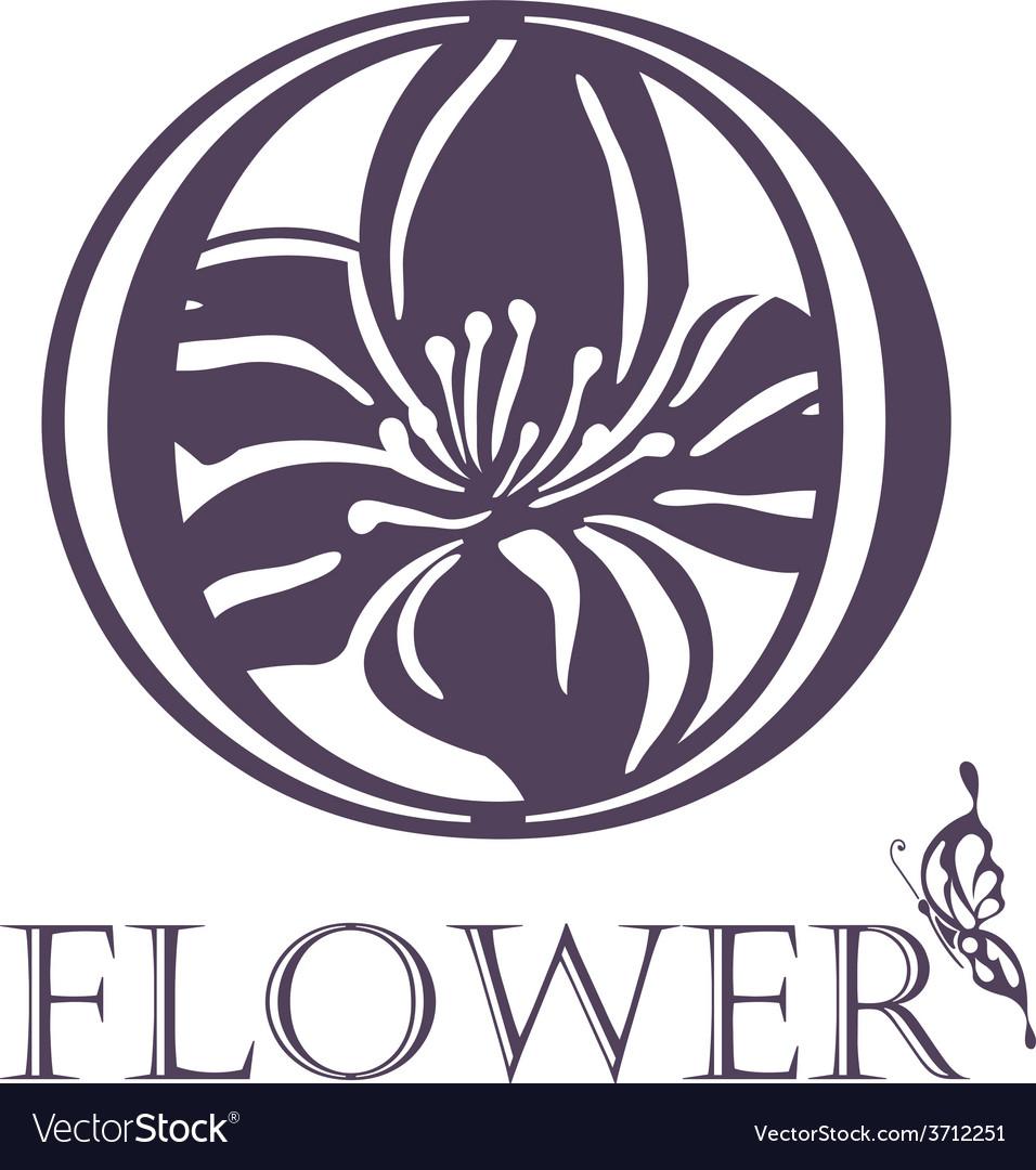 Flower background template lotus symbol logo vector | Price: 1 Credit (USD $1)