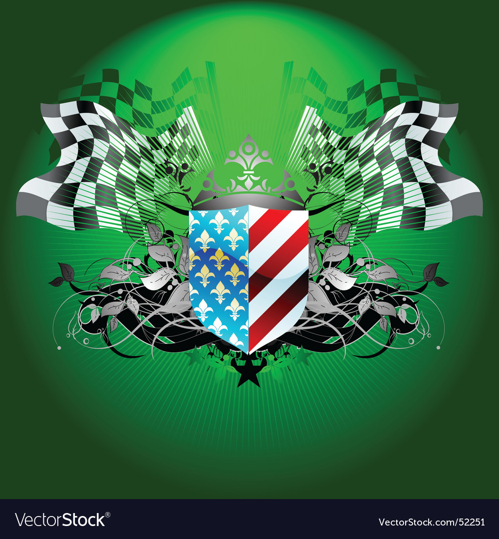 Grand prix flag vector | Price: 1 Credit (USD $1)