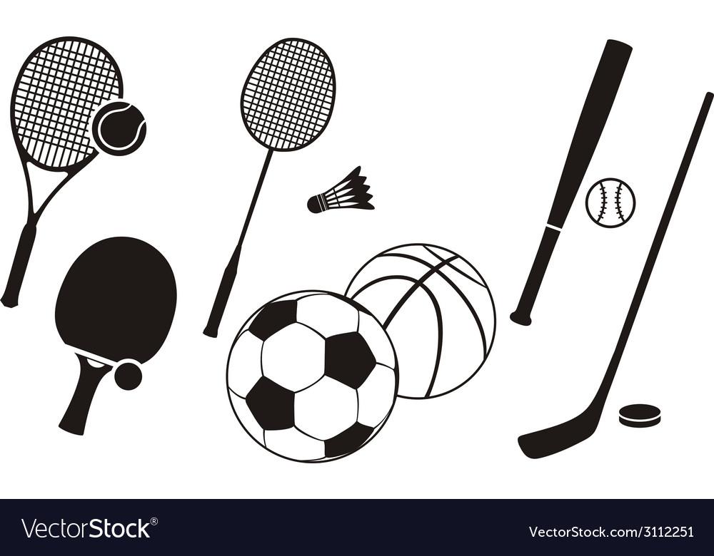 Hockey stick racket tennis baseball badminton vector | Price: 1 Credit (USD $1)